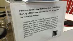"""Electromagnetic Radiation Safety: Berkeley Cell Phone """"Right to Know"""" Ordinance"""