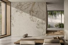 Glamora | Temps Perdu - GLPU3 Linen Wallpaper, Project R, 800 Flowers, Natural World, Ecology, Wall Design, Pure Products, Floral, Pattern