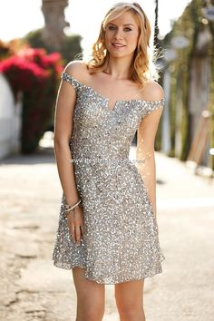 Love this shiny dress.