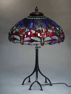 Dragonfly Tiffany Lamp - for study
