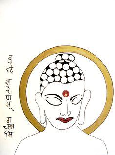 "For Sale: Buddha X by Kruti   $100   12""w 16""h   Original Art   https://www.vangoart.co/kruti-shah/buddha-x @VangoArt"