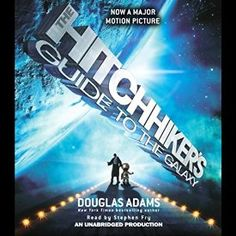 "Another must-listen from my #AudibleApp: ""The Hitchhiker's Guide to the Galaxy"" by Douglas Adams, narrated by Stephen Fry."