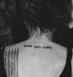 know your rights - Angelina Jolie's tattoo