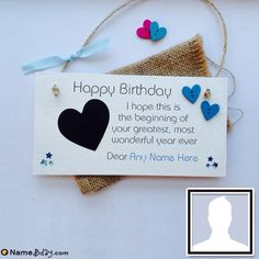 Valentines Day Gift Ideas PinWire: Personalized Birthday Cards For Boyfriend Create Birthday Card, Birthday Card With Name, Best Friend Birthday Cards, Birthday Cards For Brother, Happy Birthday Wishes Quotes, Birthday Wishes Cards, Cake Birthday, Origami Birthday Card, Birthday Crafts
