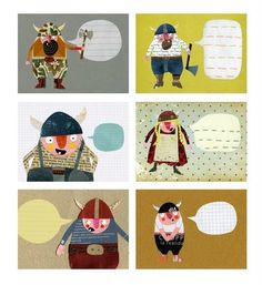 These vikings are the perfect bearer of messages for every season and occasion! (Greeting cards, they are.)