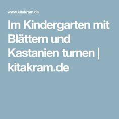 Im Kindergarten mit Blättern und Kastanien turnen   kitakram.de