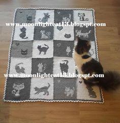 moonlightcat13: Gri-Beyaz Kedili Battaniye ^-^