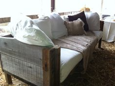 Outdoor Lounge area. If you have a handy man in your bridal party this could be a great DIY project!