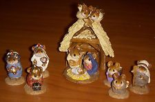 Wee Forest Folk Pageant Nativity Wise Men, Shepherds, Holy Family, Angel, 8 pcs.