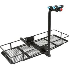 """2-Bicycle 60"""" Folding Cargo Carrier Basket Rack Combo for 2"""" Hitches - Walmart.com"""