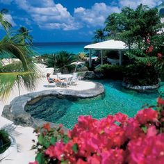 Lagoon-style pool at Crystal Cove by Elegant Hotels, Barbados