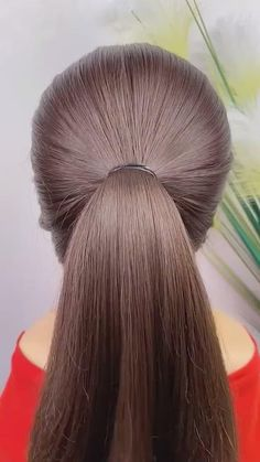 Easy Hairstyles For Thick Hair, Easy And Beautiful Hairstyles, Hairdo For Long Hair, Pulled Back Hairstyles, Braided Hairstyles Tutorials, Hair Style Vedio, Cabello Hair, Front Hair Styles, Hair Videos