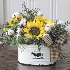 Country Farmhouse Decor, Country Crafts, Farmhouse Kitchen Decor, Rustic Decor, Country Primitive, Sunflower Kitchen Decor, Sunflower Bathroom, Sunflower Room, Sunflower Design