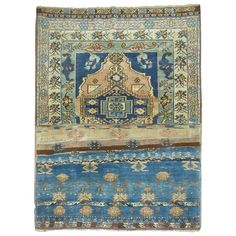 Turkish Eclectic Sampler Rug | From a unique collection of antique and modern turkish rugs at https://www.1stdibs.com/furniture/rugs-carpets/turkish-rugs/
