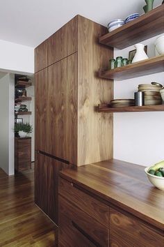 Editor's Apartment — The Kitchen Tools by Fisher & Paykel Modern Kitchen Cabinets, Wooden Kitchen, Kitchen Furniture, Kitchen Interior, New Kitchen, Kitchen Decor, Kitchen Design, Kitchen Tools, Craftsman Interior