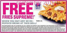 Taco Bell Coupons PROMO expires May 2020 Hurry up for a BIG SAVERS I am sure our team has found the latest taco bell coupon. Mother's Day Coupons, Grocery Coupons, Love Coupons, Free Printable Coupons, Free Printables, Taco Bell Coupons, Taco John's, Dollar General Couponing, Free Taco