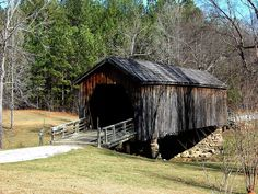 Built in 1892 was restored in 1985.This covered bridge is in Upson  County Ga