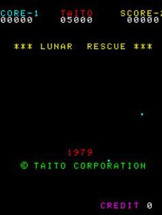 Video Game Nation Lunar Rescue Arcade, Taito, 1979