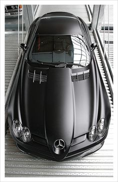 Mercedes-Benz SLR 722 Edition not a big Mercedes fan but any car that is black is beautiful.