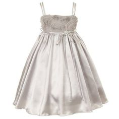 Amazon.com: Kids Dream Silver Tissue Cut Rose Flower Girl Dress Little Girls 2T-14: Kids Dream: Clothing