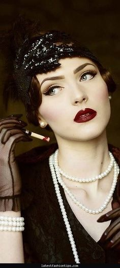1930s hair and makeup research                                                                                                                                                     More