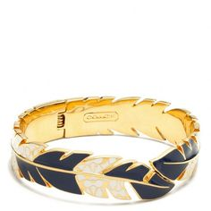 Coach Hinged Feather Bangle ($168) found on Polyvore