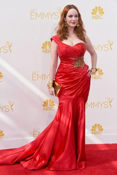 Christina Hendricks in a fabulous red #dress