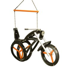 Chopper Ride'n Motorcycle Tire Swing - Rough riders? Only in attitude – your little cycle enthusiasts will have nothing but smooth rides on the Chopper Ride'n Motorcycle Tire Swin...
