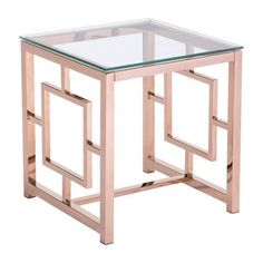 ZUO Geranium Side Table Rose Gold