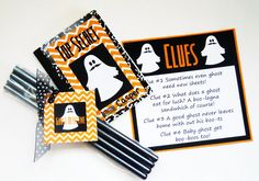 Delightfully Noted: Free Printable: Kids Ghost Detective Halloween Game