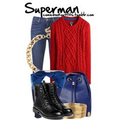 Superman by m-gnoud on Polyvore featuring Joules, J Brand, yeswalker, Vince Camuto and Red Herring