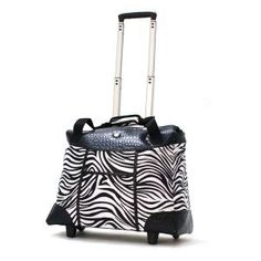 Olympia Usa Deluxe Fashion Rolling Tote In Zebra Black Luggage Store, Carry On Luggage, Luggage Bags, Rolling Laptop Bag, Pvc Trim, 17 Inch Laptop, Laptop Tote, Olympia, Tote Bag