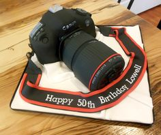 Canon Camera cake for a 50th birthday