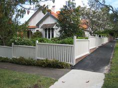 This fence I think. Craft in Wood > Timber Fences & Gates   Decorative Woodwork   Brickwork   Sandstone - Lower North Shore, Sydney, NSW