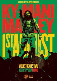 KY-MANI MARLEY - Przystanek Woodstock 2014 Bob Marley, Woodstock, Comic Books, Comics, Roots, Brother, Aesthetics, Posters, King