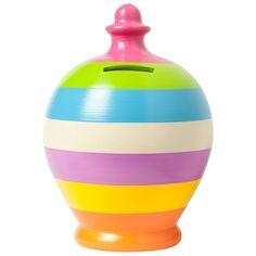 Multicolour Thick Hoops Money Pot