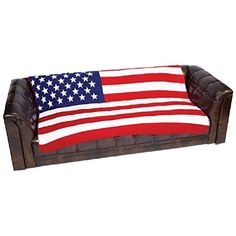 United States Flag Print Fleece Throw 50x 60 Blanket ** Details can be found by clicking on the image.