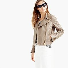 Collection leather motorcycle jacket : Women leather   J.Crew
