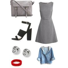 Untitled #855 by joleen2310 on Polyvore featuring polyvore fashion style H&M Topshop FOSSIL