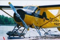 Beaver (S/N 2), CF-OBS, with water bombing tanks on floats. Ontario Department of Lands and Forests.