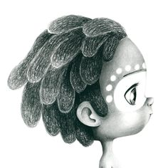 Coloring page by: Emmanuelle Colin Coloring Book Art, Colouring Pages, Adult Coloring Pages, Disney Fine Art, Cute Black Boys, Wild Girl, Black Characters, Dibujos Cute, Native American Art