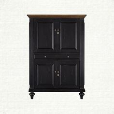 while compact in size, the beckett computer cabinet is big on function, creating a highly versatile office solution for a small space with its though