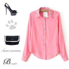 wholesale Graceful temperament lapel blending blouses BD-X2898