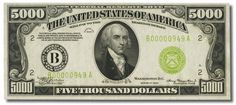There used to be $500, $1000, and $5000 bills featuring the faces of Presidents McKinley, Cleveland, and Madison respectively - 12 Startling Facts About U.S Presidents