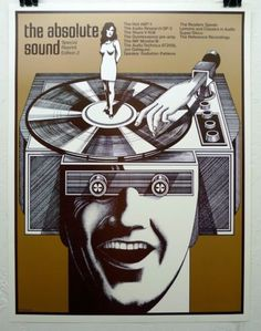 "The Absolute Sound ""Vol 2 poster by Gary Viskupic - gloss version Vinyl Record Shop, Vinyl Records, Vintage Records, Vintage Posters, Vintage Music, The Absolute Sound, Music Machine, Vinyl Junkies, Record Players"