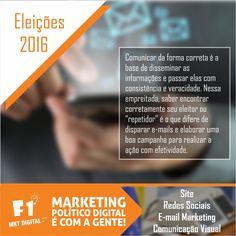 Informe seus eleitores de formar efetiva e rápida. O e-mail marketing pode ser um grande aliado para disseminar informações de sua campanha.    #MarketingPolitico #MarketingPoliticoDigital #Eleiçoes2016    (37) 3016-3133  atendimento@f1mktdigital.com.br  Rua Pernambuco, 2301, Ipiranga - Divinópolis/MG