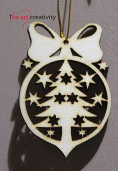 Addobbo in legno. http://www.theartcreativity.com/