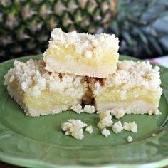 "No, it isn't lemon bars. Even though your mouth tries to tell you really taste lemon.   It is in fact ""Pineapple Crumble""."