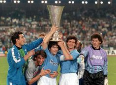VFB Stuttgart 3 Napoli 3 agg) in May 1989 at Neckarstadion. Despite a minute goal by Olaf Schmaler to make it Napoli went on to win the UEFA Cup. Mexico 86, Mexico City, Camp Nou, Rafael Nadal, Cristiano Ronaldo, Fc Barcelona, Messi, Liverpool Captain, Leading From The Front