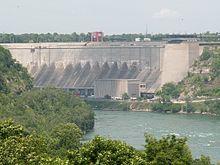 Hydroelectric power dam at the Robert Moses Generating facility, Lewiston, New YorkNiagara Falls - Wikipedia, the free encyclopedia